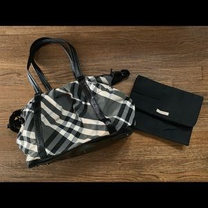Authentic Burberry tote or diaper bag